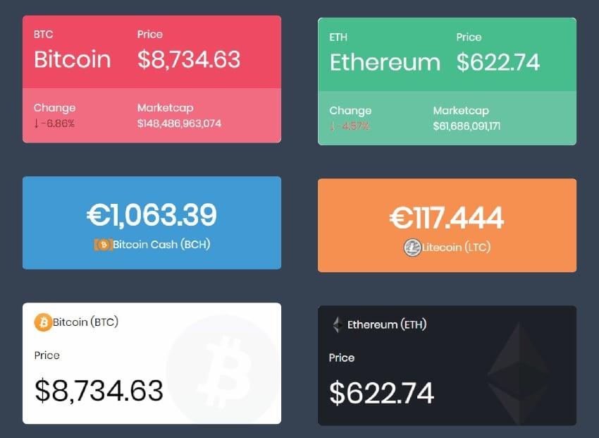 Massive Cryptocurrency Widgets | Crypto Plugin