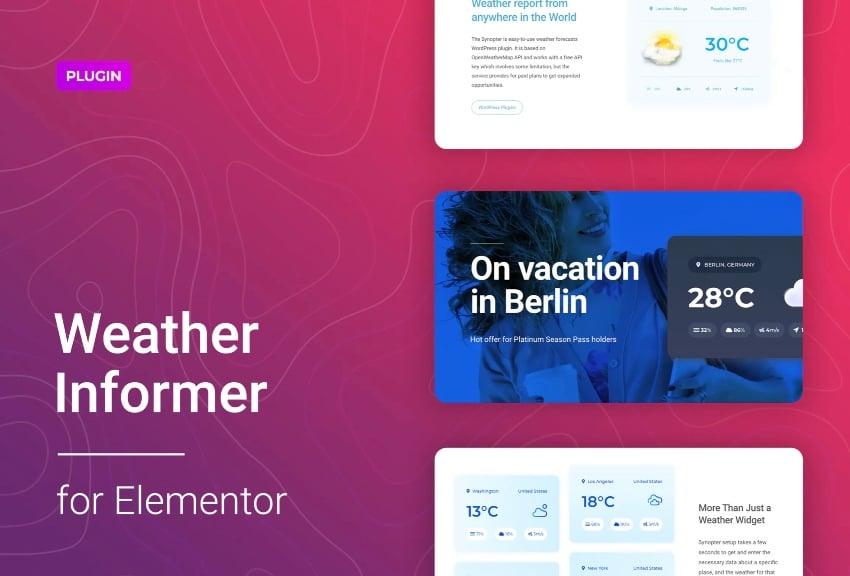 Weather Informer for Elementor