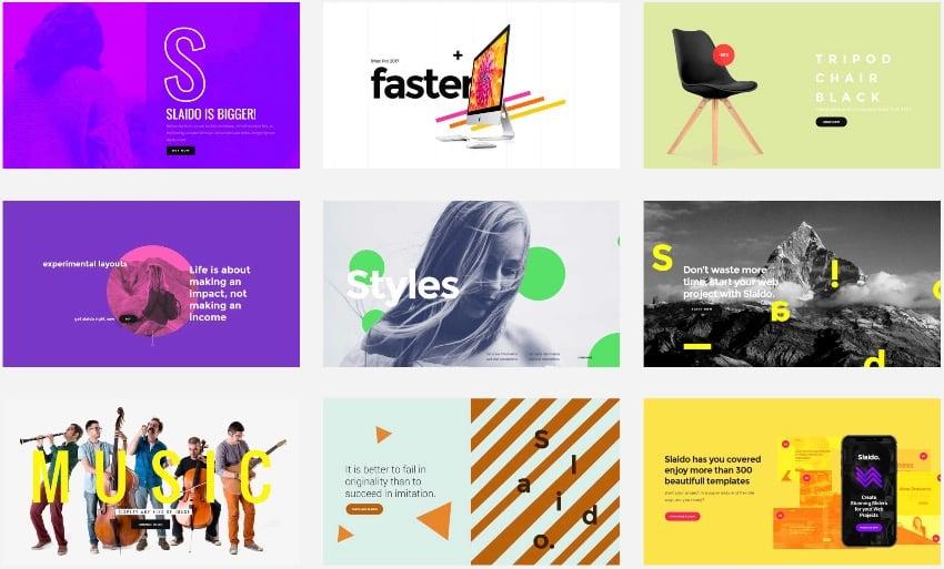Slaido—Template Pack for Slider Revolution WordPress Plugin