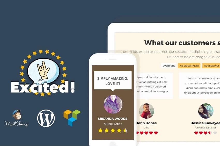 Testimonials Showcase for WordPress — Excited!