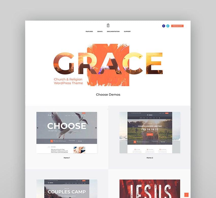 Grace - Church, Religion & Charity WordPress Theme