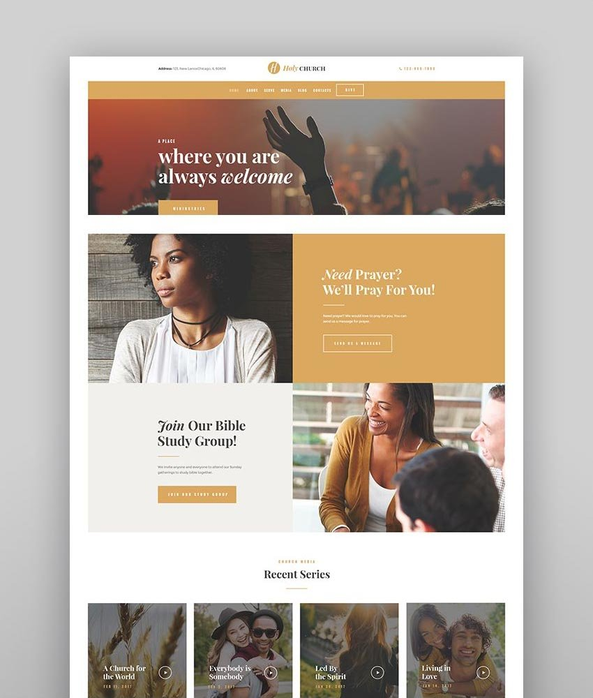 Holy Church   Religion, Charity & Nonprofit WordPress Theme