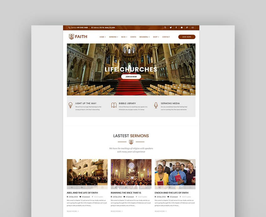 Life Churches - WordPress Theme for Churches and Events