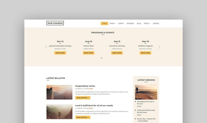 Our Church - Religious Churches WordPress Theme