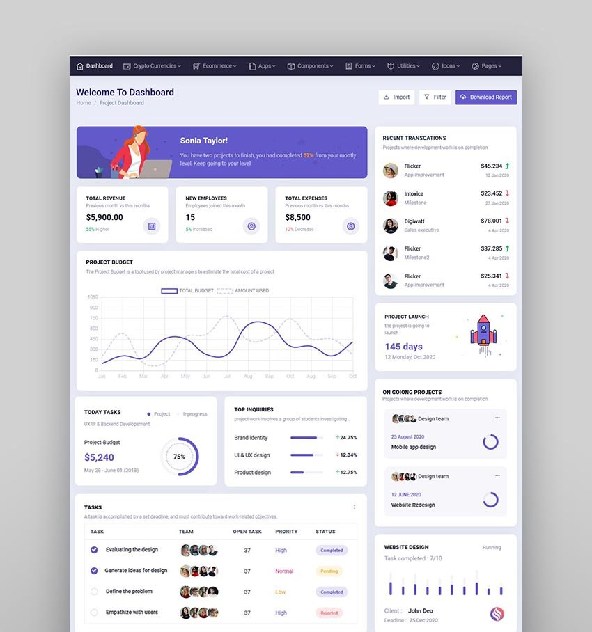 Spruha - HTML Dashboard Template
