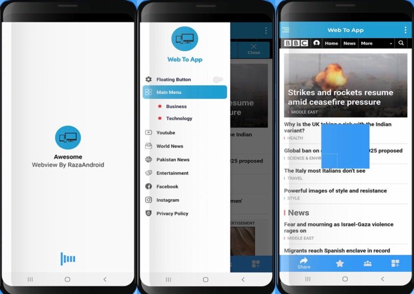 Smart Android WebView App Template