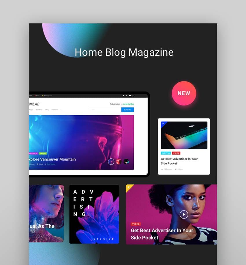 Atomlab - Startup Landing Page WordPress Theme