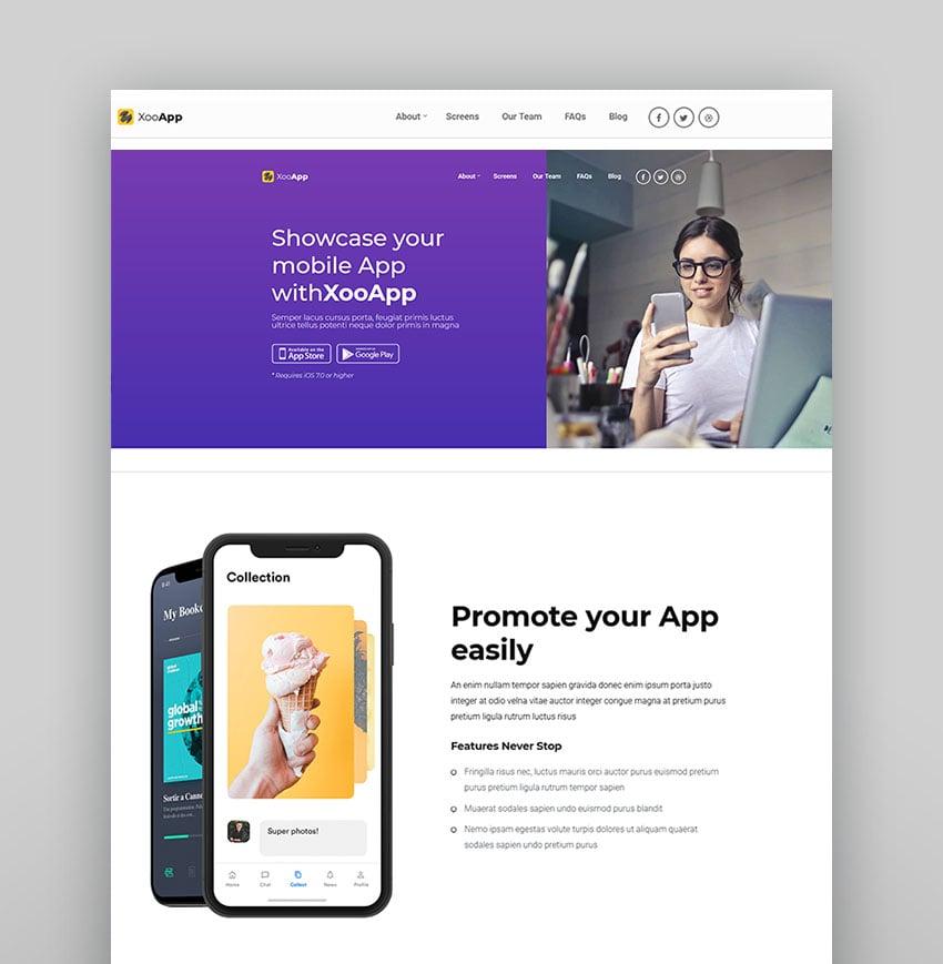 XooApp - App Landing Page WordPress Theme