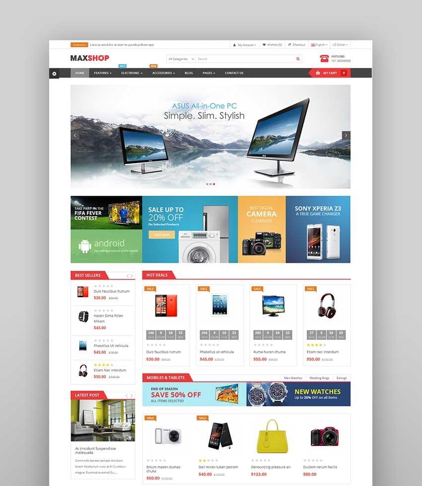 MaxShop - Fastest & Responsive Multipurpose OpenCart 3 & 2.3 Theme