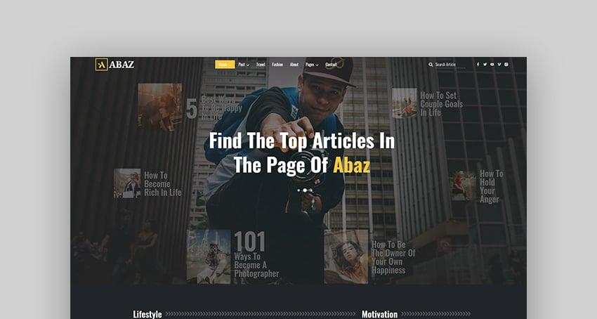 Abaz - Magazine & Blog HTML Template