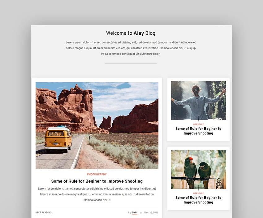 Alay – Luxury BLog HTML Template with Dark Mode