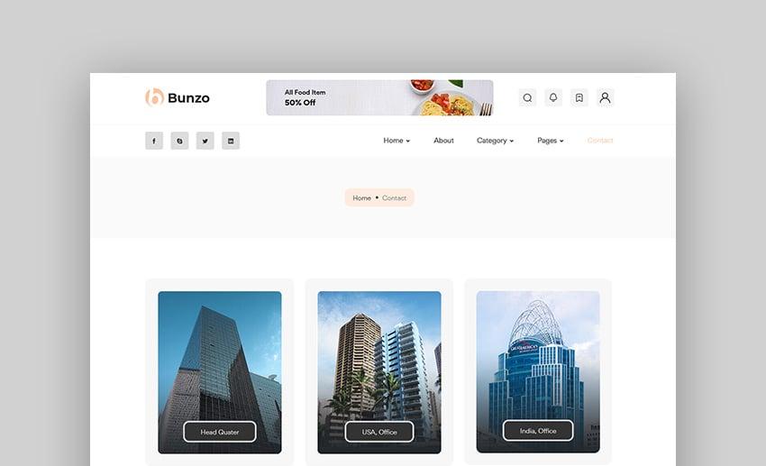 Bunzo - Blog Bootstrap 5 HTML Template