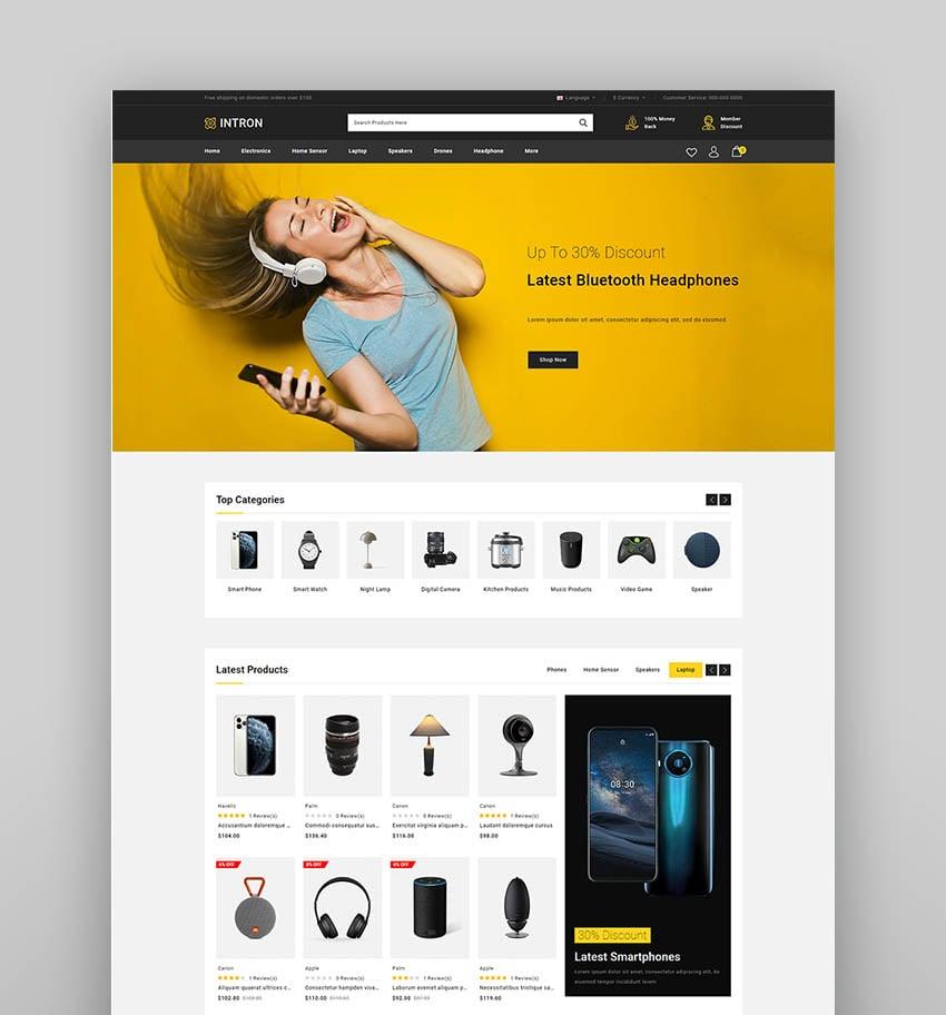 Intron - Mega Store OpenCart 3.x Responsive Theme