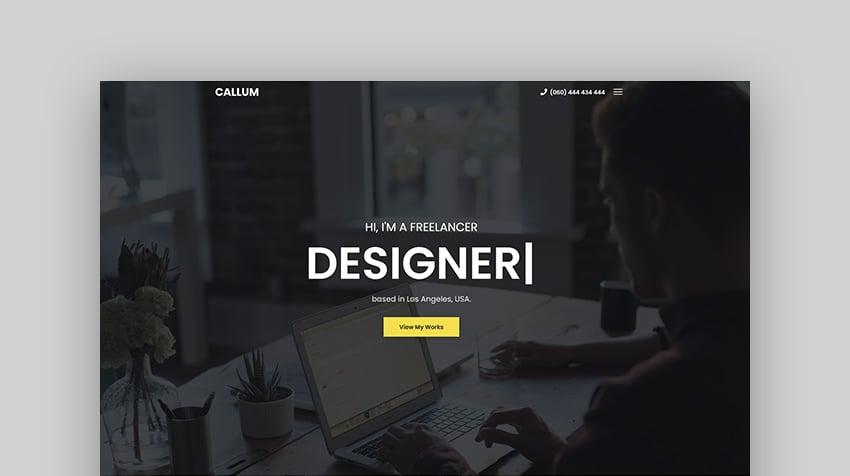 Callum - Personal Portfolio Template