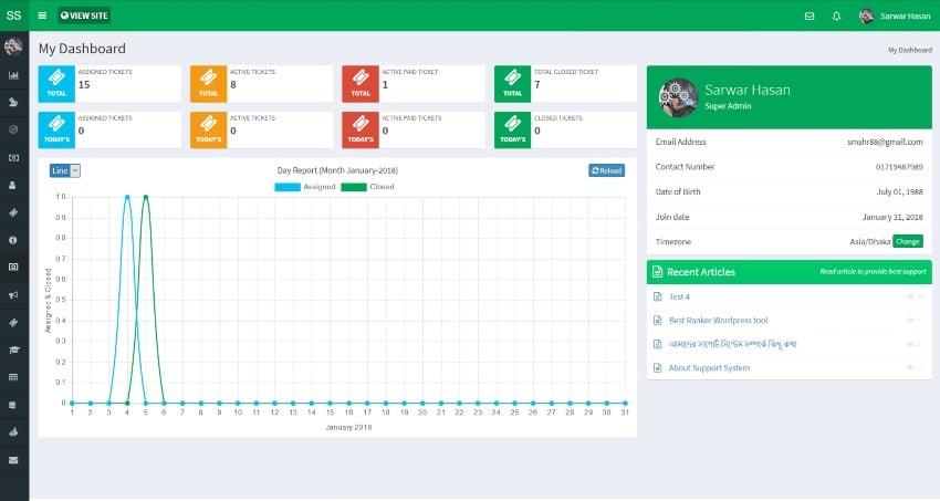 Best Support System-Live Web Chat & Client Desk & Ticket Help Centre