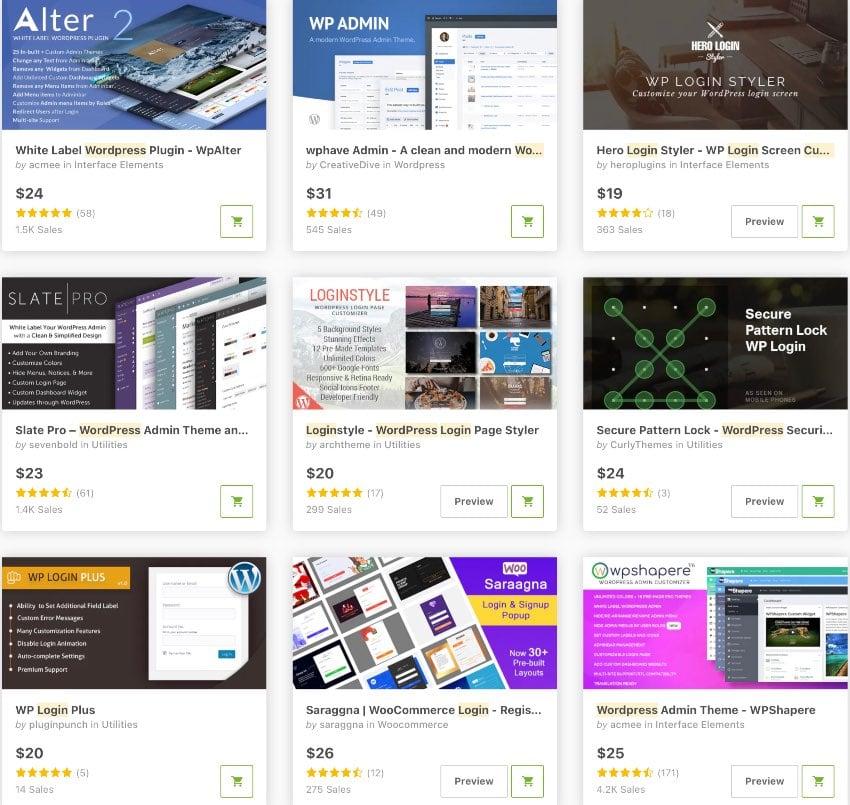 Topselling WordPress Custom Login Plugins on CodeCanyon