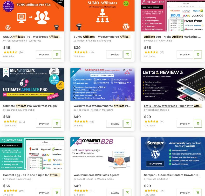 Affiliate WordPress and WooCommerce Plugins