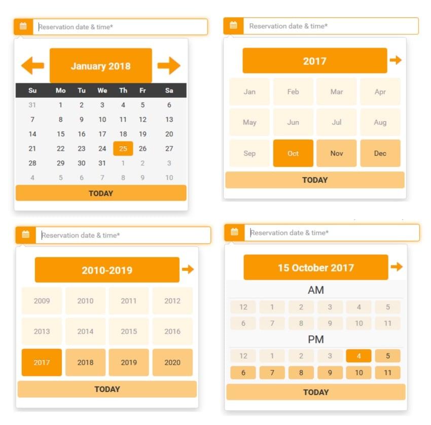 When.datepicker - Date Range Picker
