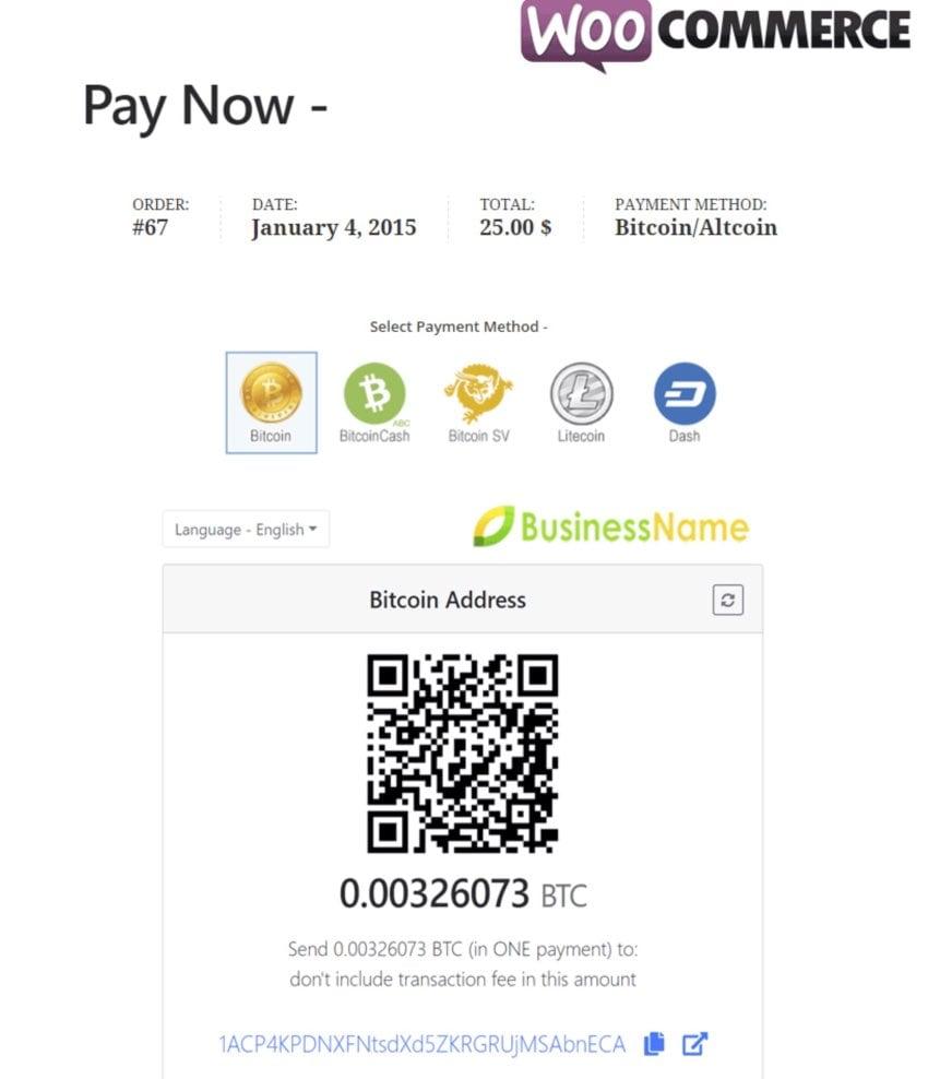 GoUrl WooCommerce – Bitcoin Altcoin Payment Gateway Addon
