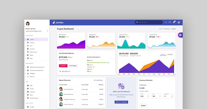 Jumbo - React Admin Template with Material-UI