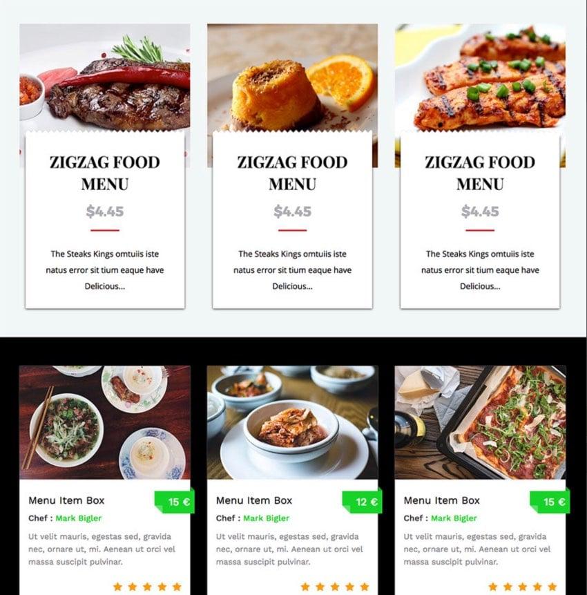 Restaurant Food Menus for WPBakery Page Builder (Visual Composer)
