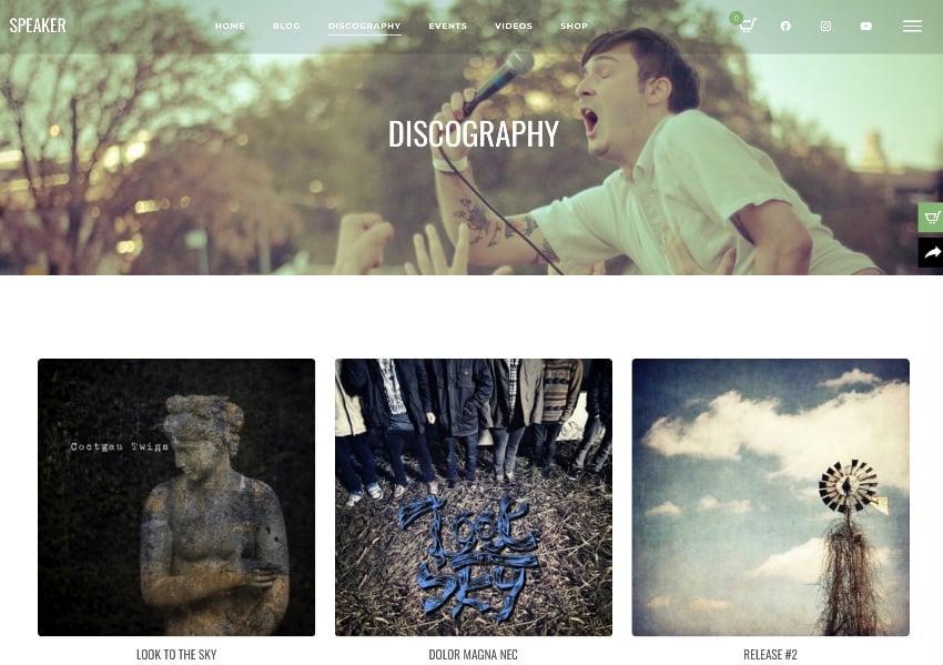 Speaker - One-Page Music Wordpress Theme