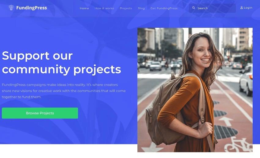 Fundingpress - The Crowdfunding WordPress Theme
