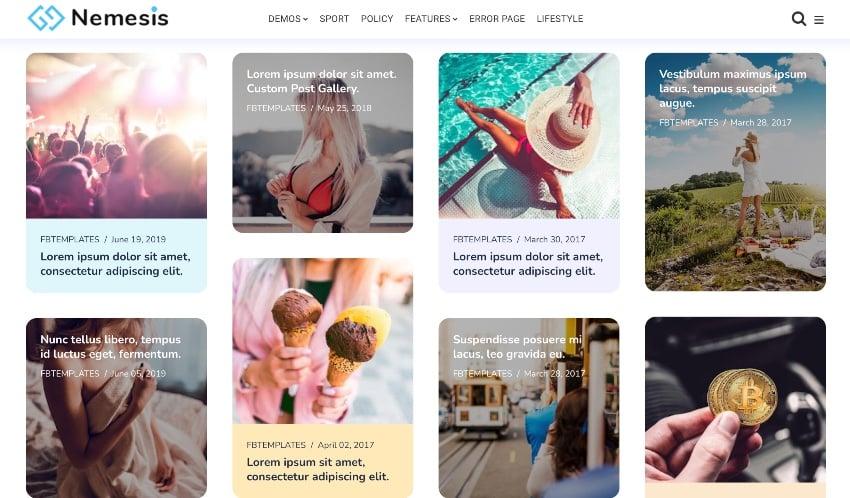 Nemesis | Responsive Minimal Blogger Theme