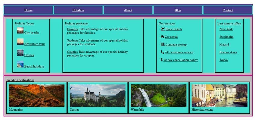 Flexbox megamenu template with maximized items