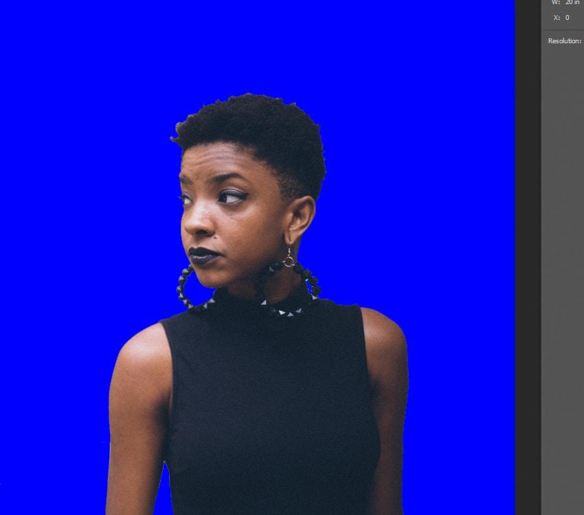 Adding a blue background