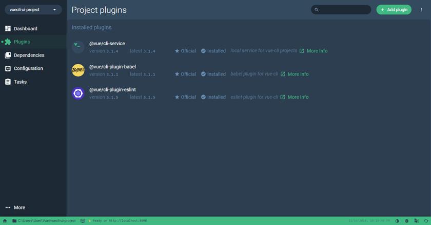 Vue UI Project Dashboard