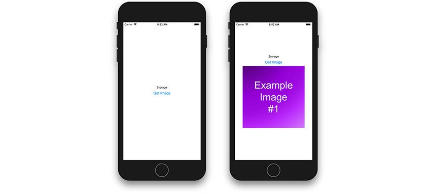 App screenshots showing the Get Image feature