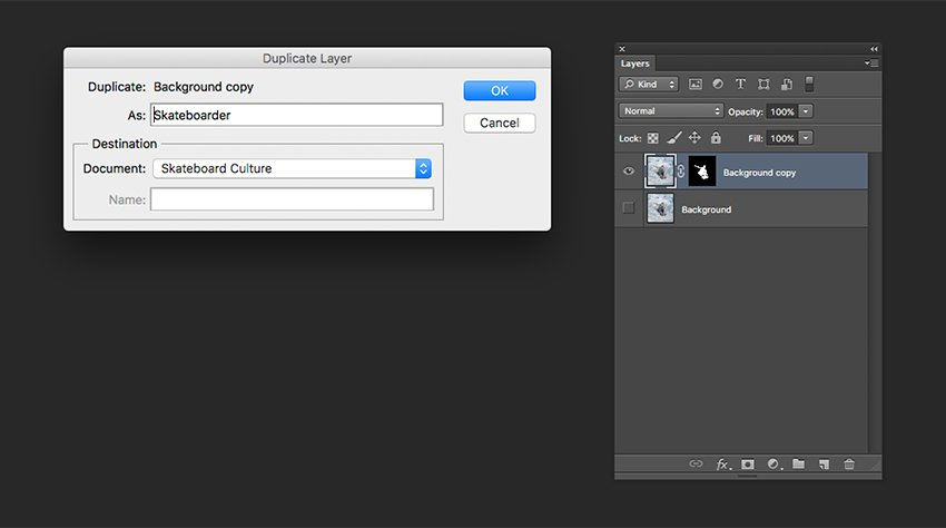 Duplicating layers to another file