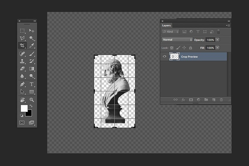 Crop the image to a manageable size