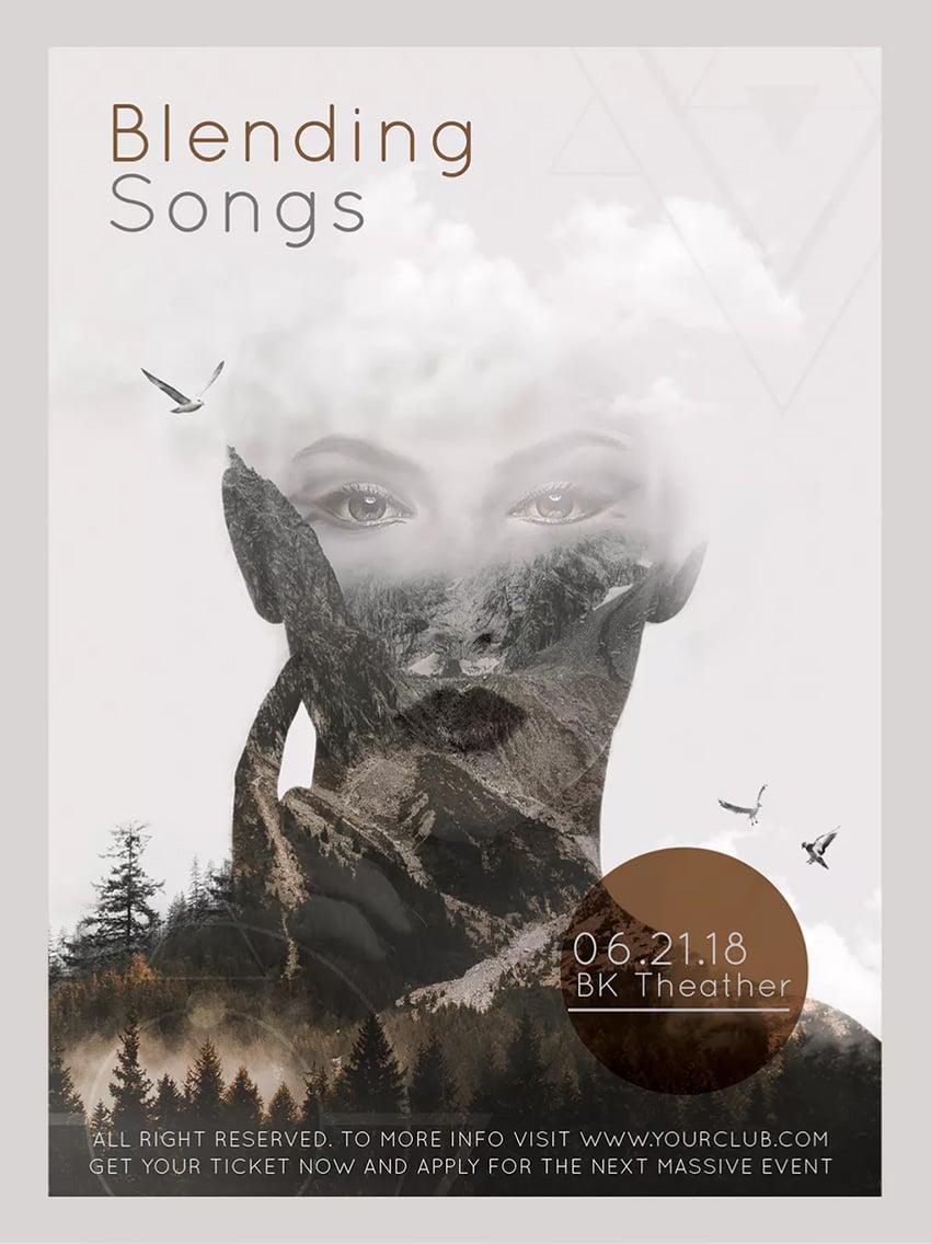 Blending Songs Music Poster