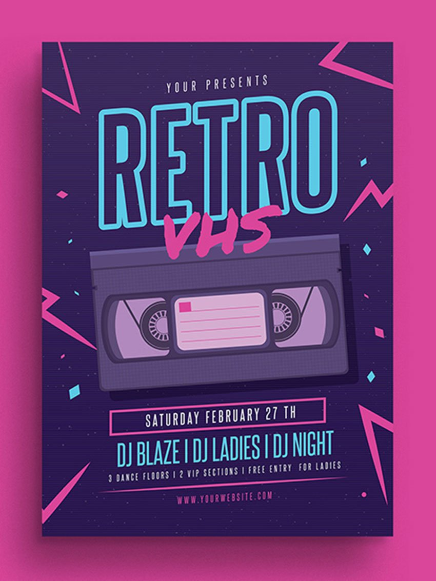 Retro VHS Music Flyer