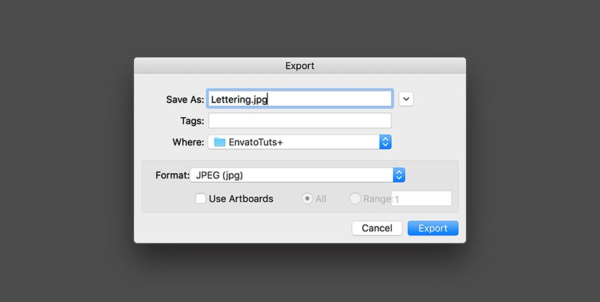Save the file as AI or export it for JPEG