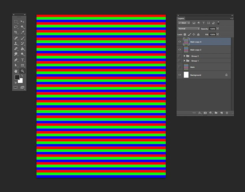 Duplicate the horizontal lines