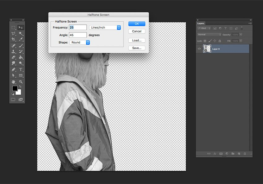 Convert the image into Grayscale and bitmap