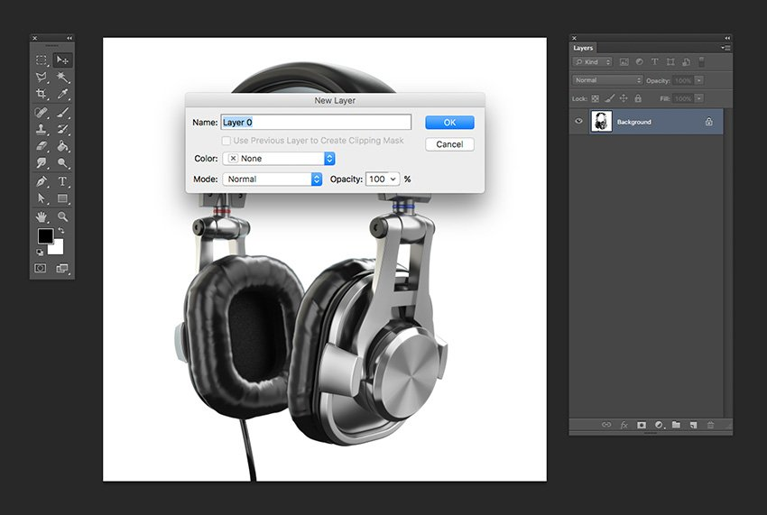 Open the isolated headphones image and unlock it