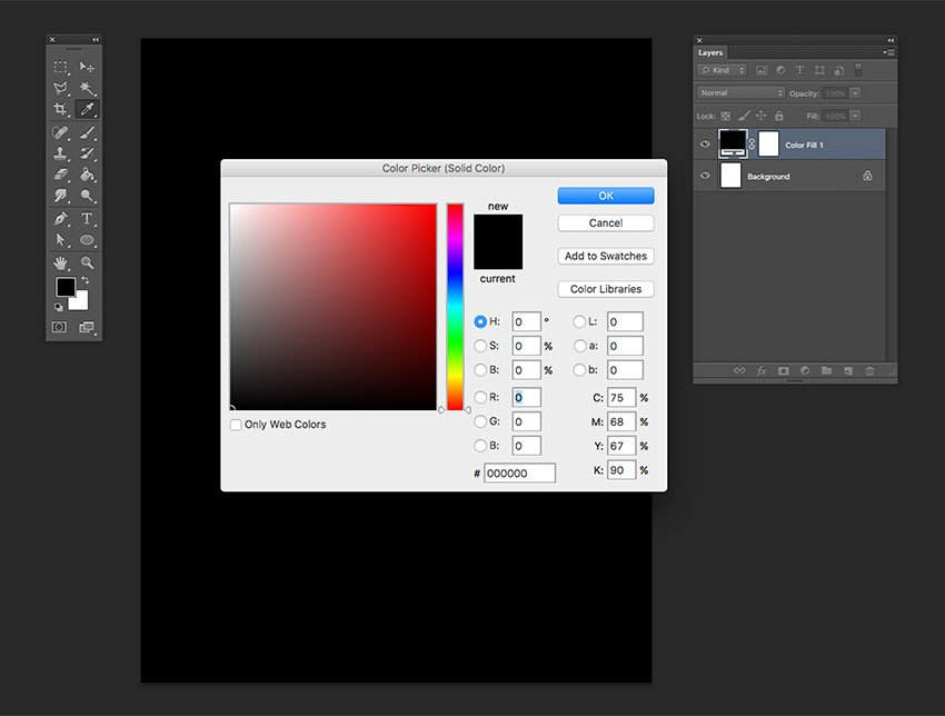 Add a solid color fill layer