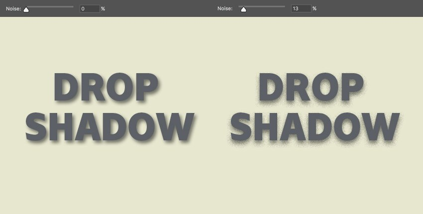 noise controls the quality of the shadow