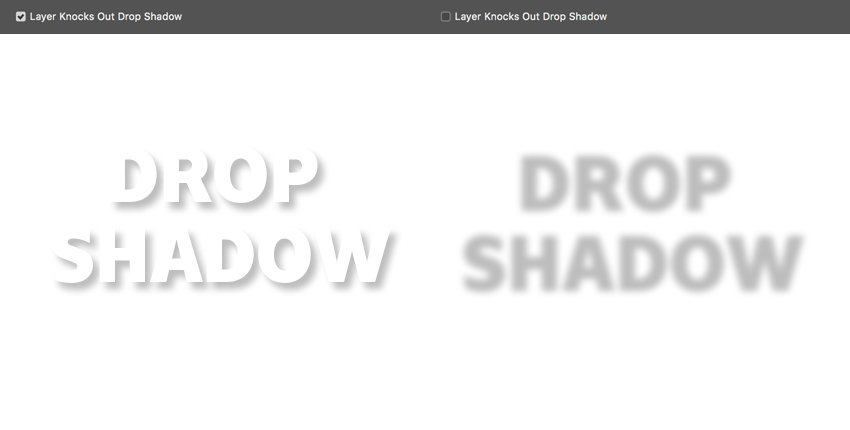 Layer knocks out drop shadow stop or allows the shadow from showing through