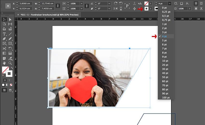 Add a white stroke around the shape