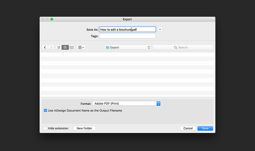 Export the file as a PDF for print