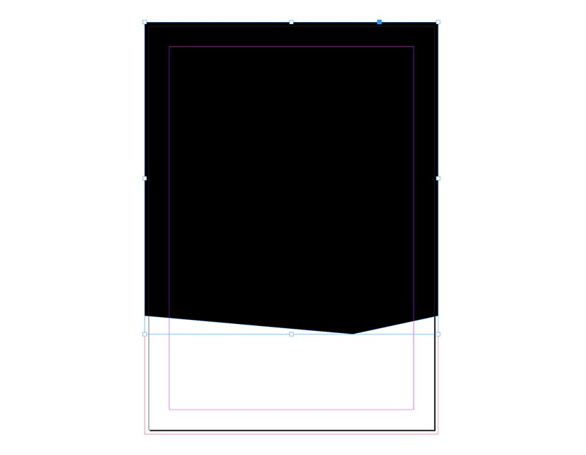 Using the pen tool add a point to the bottom of the rectangle
