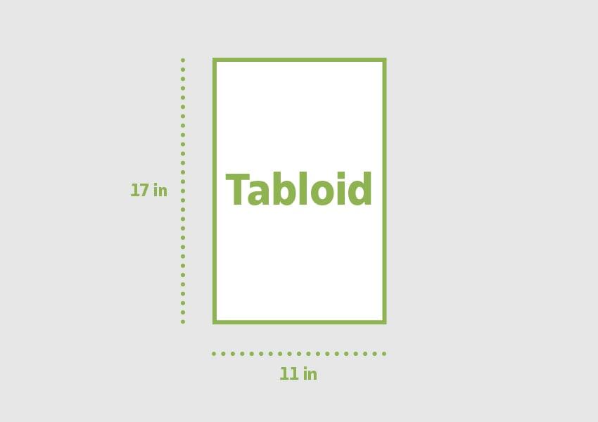 Tabloid 11 x 17 in