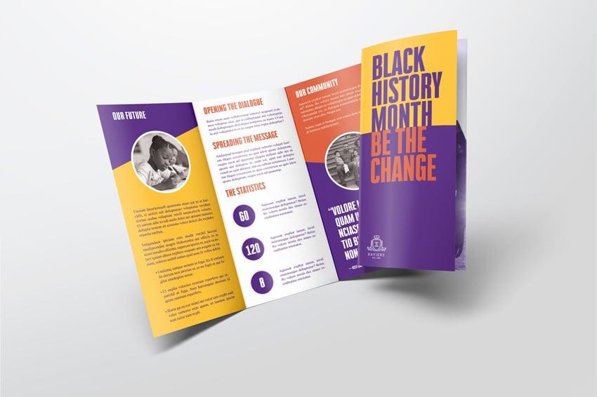 How to Make Brochure Pamphlet Design Tutorial finished template