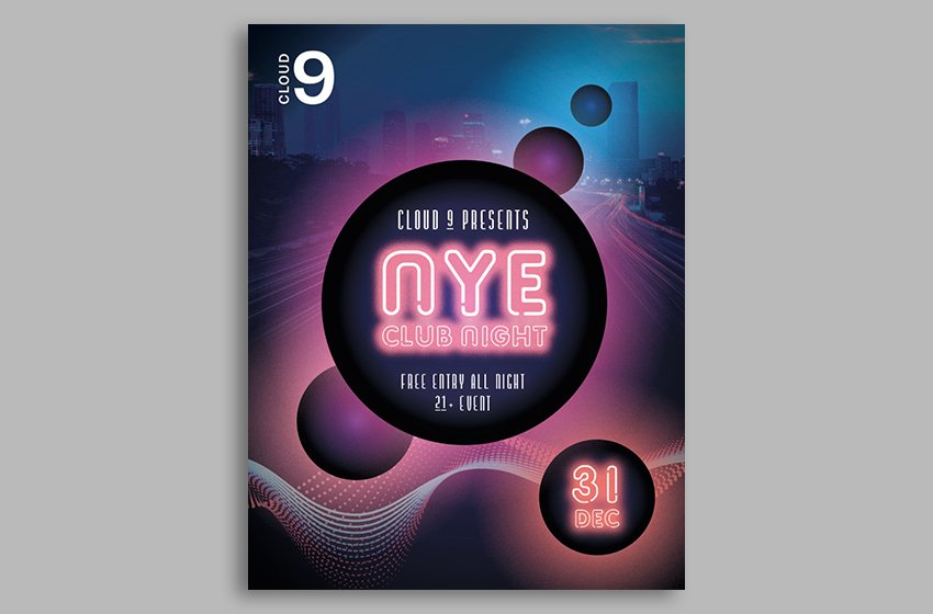How to make a club flyer template in indesign