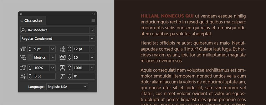 create a text frame use the paragraph styles to format it Change the color on the swatches panel